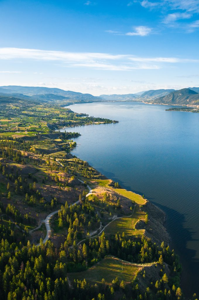 Naramata Bench Wine region looking South towards Penticton